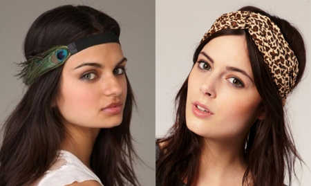 Si queremos un look bohemio, podamos usar una banda con el adorno en parte central de nuestra frente. Algo no muy frecuente pero, de hecho, bastante chic.