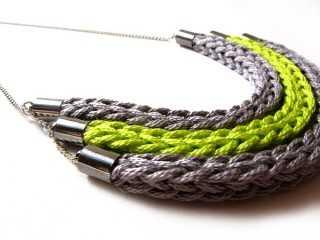 Este es un claro ejemplo del collar hecho a crochet