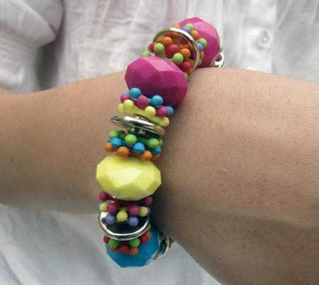 f766b0613331 Tendencias color block  pulseras