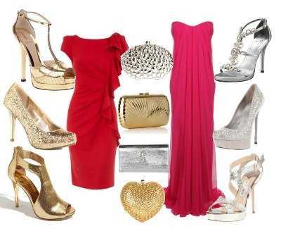 Vestido rojo zapatos que color