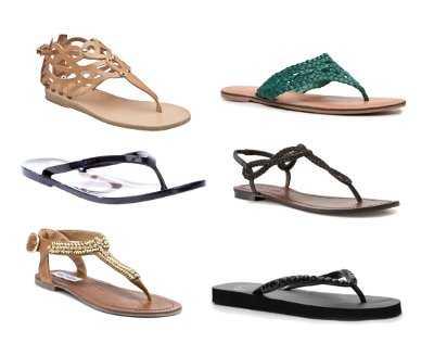 Sandalias para vestido largo