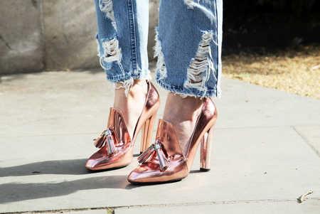Resultado de imagen para zapatos metalicos combinar