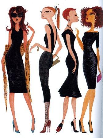 Como puedo combinar un vestido negro