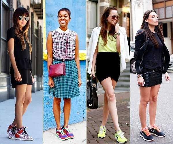 Combinación de zapatillas modernas con cualquier tipo de outfit