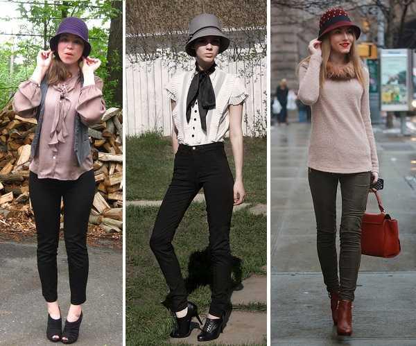40d9600b1b Pantalones skinny y blusas súper femeninas par aun estilo retro